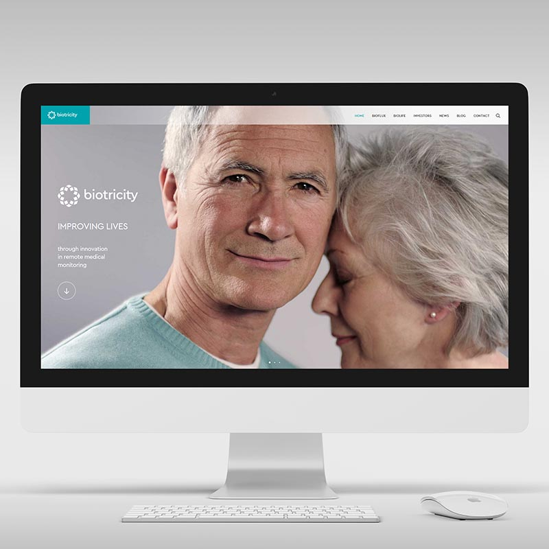 Website for a medical technology company