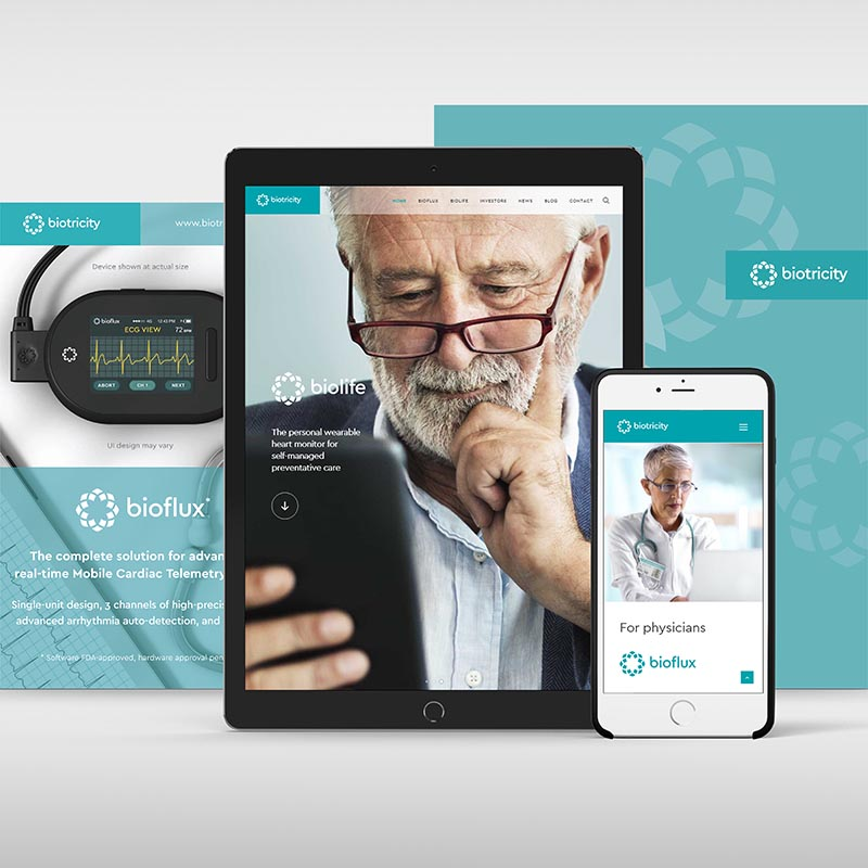 Marketing materials for a medical technology company