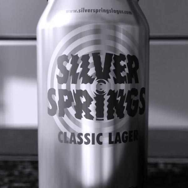 Can of beer showing sophisticated branding design